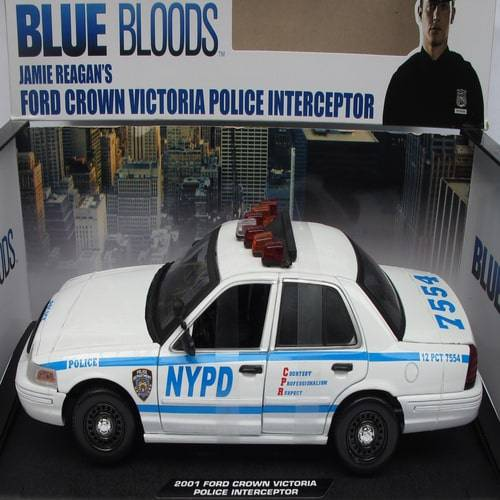 Xe Mo Hinh Greenlight Ford Crown Victoria Police Interceptor Blue Bloods