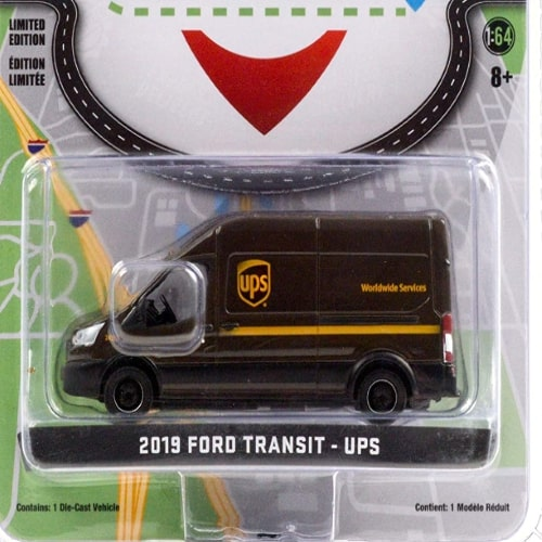 Xe Mo Hinh Greenlight Ford Transit Lwb High Roof United Parcel Service (ups) 3